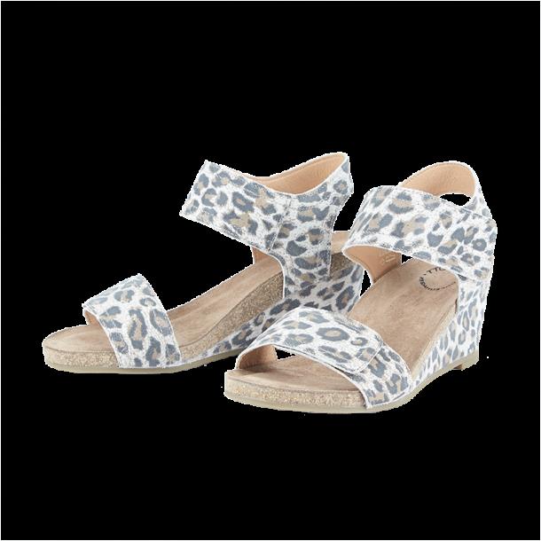 Cashott 13011 027 Sandal Beige Leopard