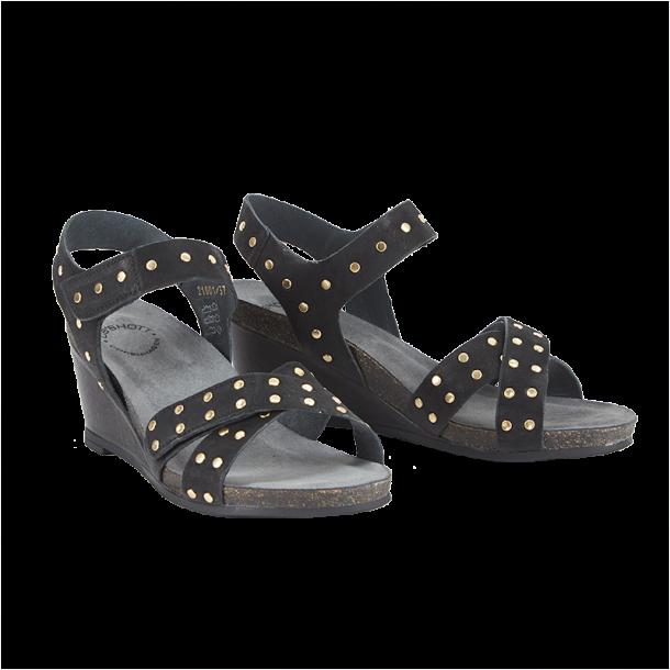 eb9583a7368e Cashott 21001-340 Sandal Sort - Sandaler - Cashott A S