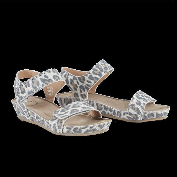 3cce0eb1236 Cashott 21010-027 Sandal Beige Leopard - Sandaler - Cashott A/S