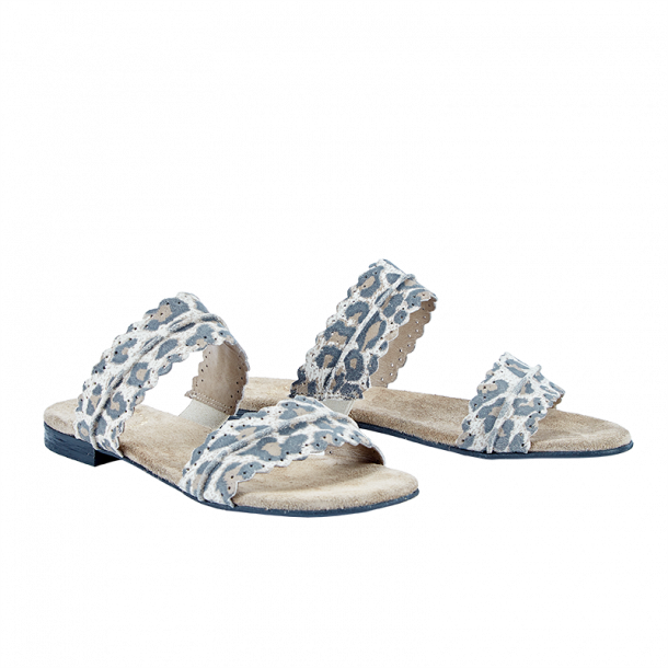 eb308a21b44 Cashott 21026-027 Sandal Beige Leopard - Sandaler - Cashott A/S