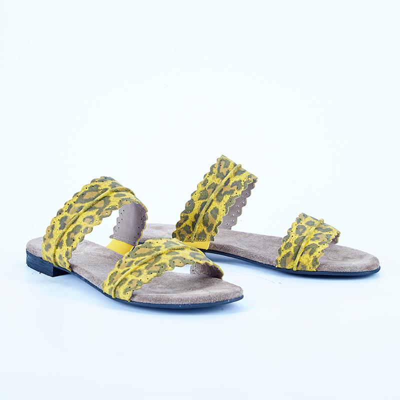 813bb3141e6d Cashott 21026-030 Sandal Gul leopard - Sandaler - Cashott A S