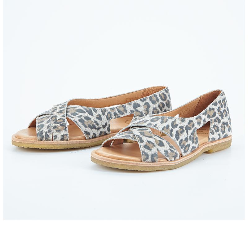 Cashott 21030 027 Sandal Beige leopard