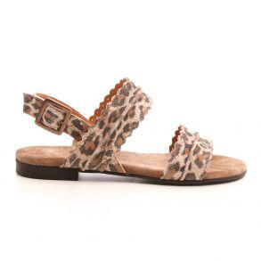 e4d5c23b Cashott 21026-030 Sandal Gul leopard - Sandaler - Cashott A/S